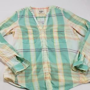 Holding Horses Anthropologie Plaid Cotton Shirt